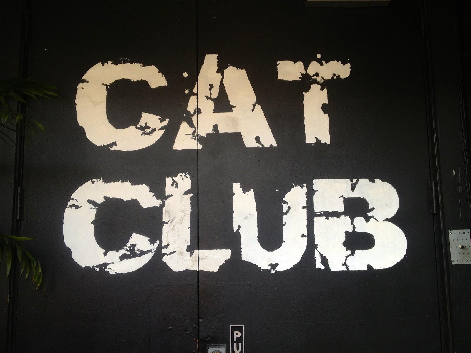 Cat Club Door Sign