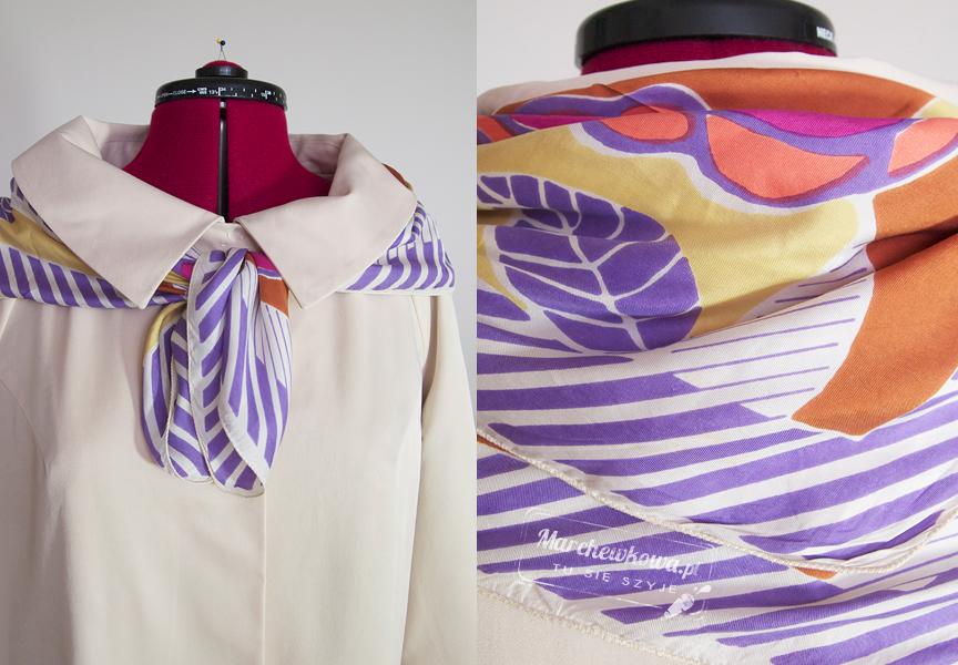 marchewkowa, blog, moda, szafiarka, retro, apaszka, jedwab, vintage, rags&silks