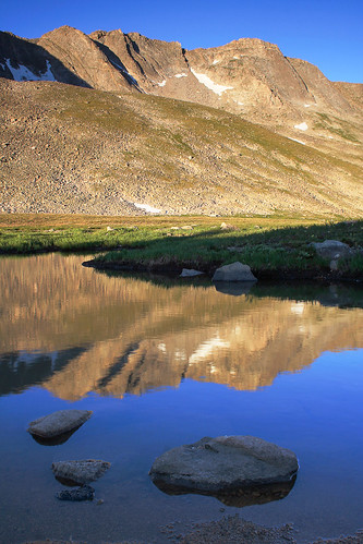 morning blue summer brown mountains sunrise colorado unitedstates lakes evergreen rockymountains waterscapes mountevanswilderness