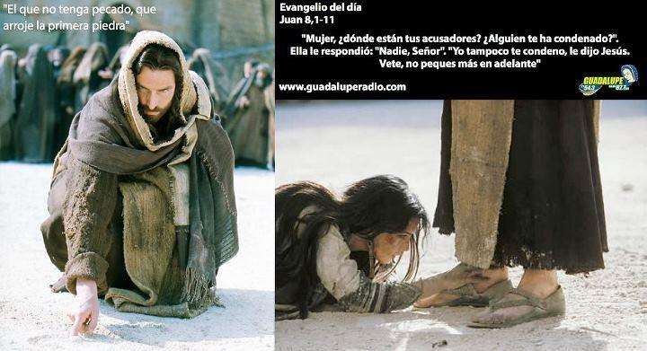 Evangelio del día Evangelio según San Juan 8,1-11. Jesús f… | Flickr