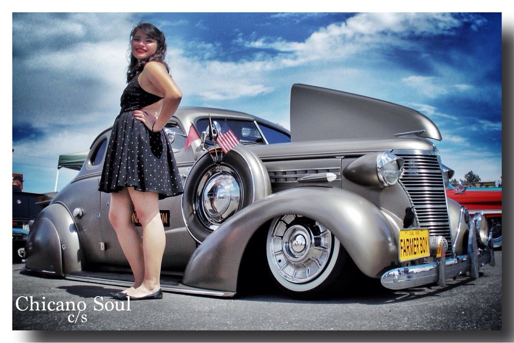 My little girl posing w/ a '38 Chevy Coupe at #VivaLasVega… | Flickr