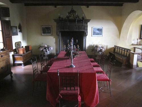 Dining room at Castillo de Bossi   by jetsetwhitetrash