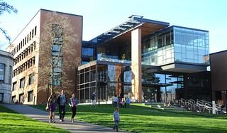 Paccar Hall, Business School, contemporary architecture, University of Washington, campus, Seattle, Washington, USA | by Wonderlane