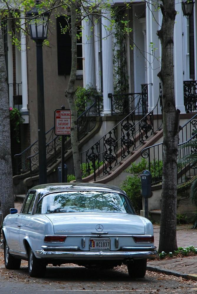 Vintage Mercedes 250 SE in Savannah, GA | We took a day trip