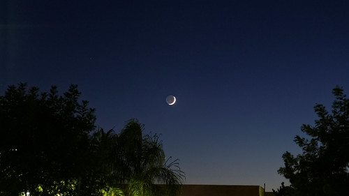 moon newmoon light blue sunset landscape city california scuthography