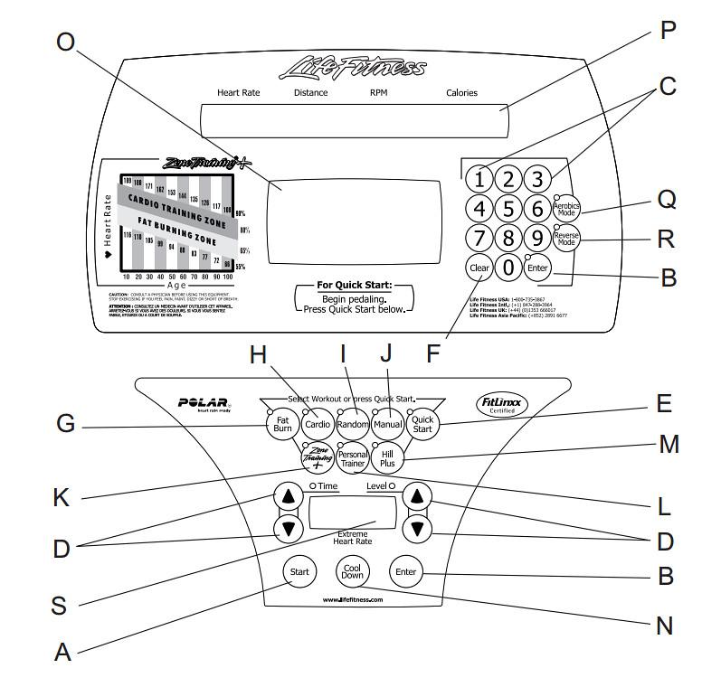 Life Fitness 9500HR Elliptical Console
