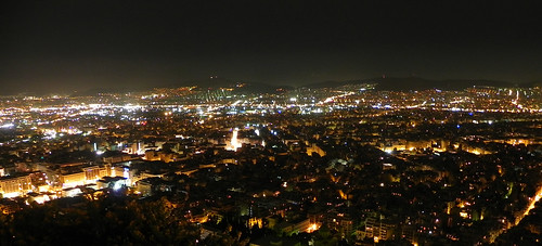 Athens at Night   by Tristan Honscheid