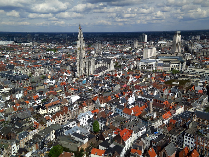 High Above Antigoon - Antwerp
