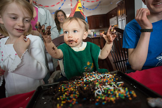 Ezra & His First Birthday Cake | by goingslowly