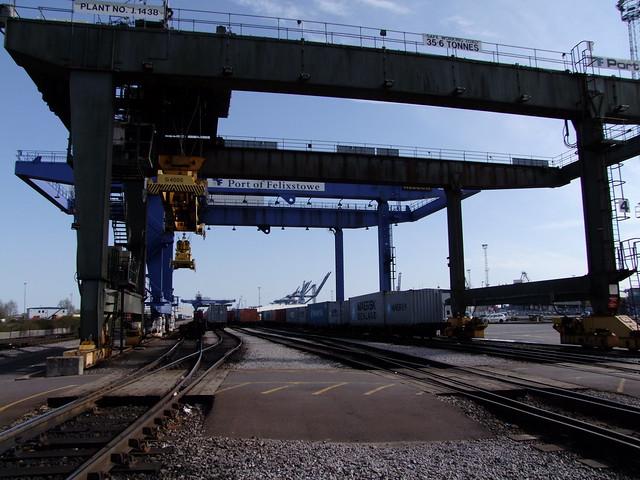 Felixstowe Docks Container Terminal