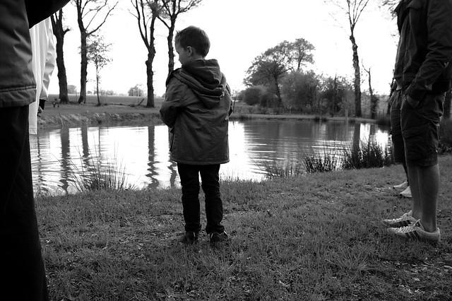 A little boy in a big world