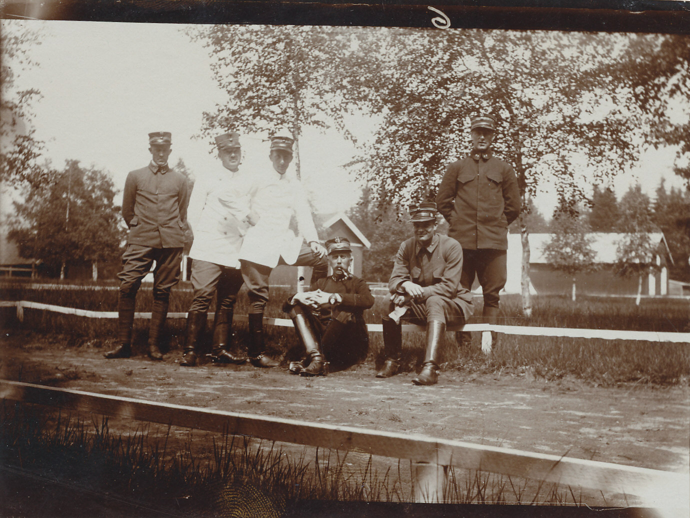 Gardermoen 1912, Vidkun Quisling lengst til venstre.
