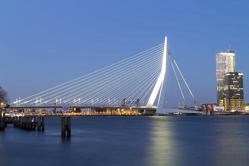 Erasmus Bridge by Night, Rotterdam   by LukePricePhotography