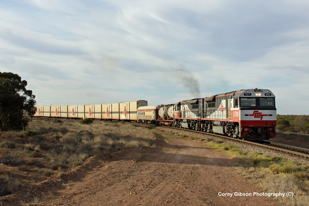 SCT008 & SCT005 haul the 2PM9 through Stirling North by Corey Gibson