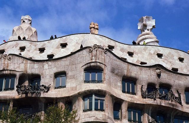 Casa Mila and blue sky