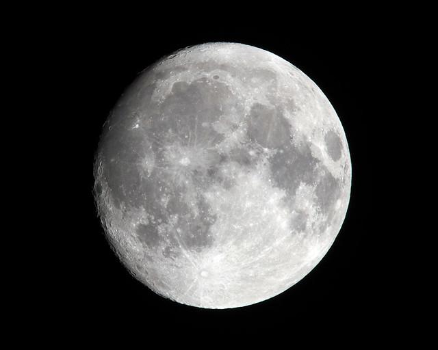 Waxing Gibbous Moon, 98%