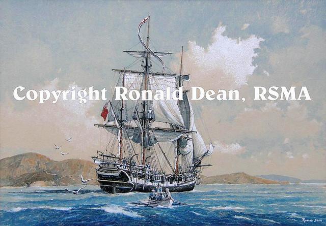 HMS Beagle by Ronald Dean