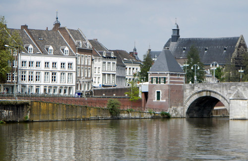 going down the river in Maastricht