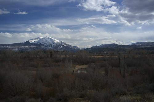 snow mountains landscape spring colorado scenic