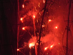 Crackers at Lankpodi Yatra