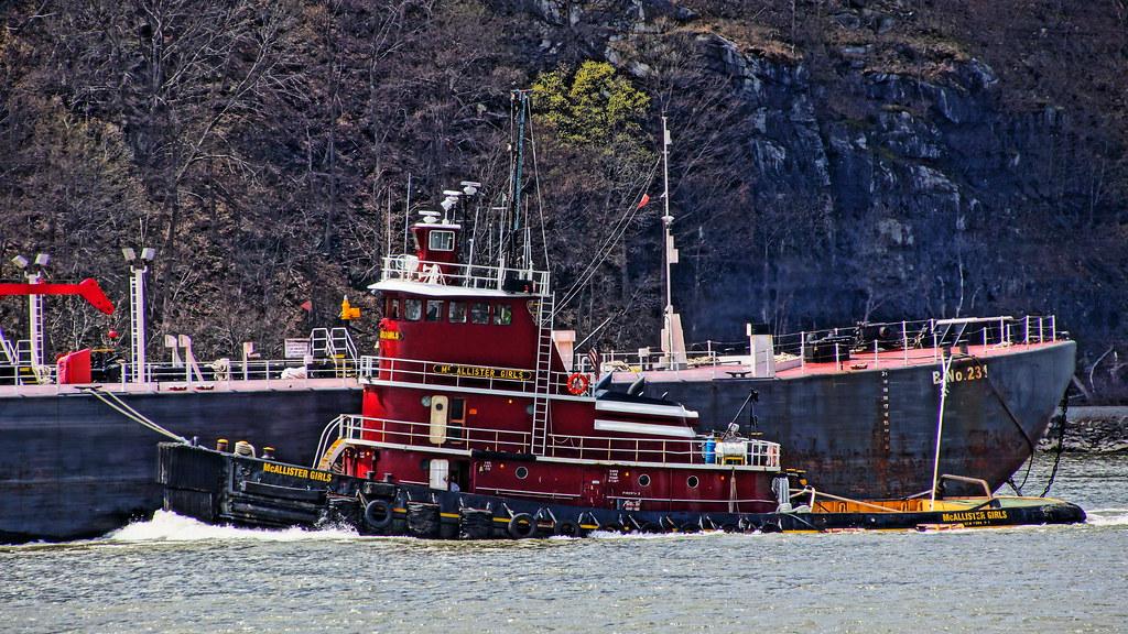 McAllister Girls | Tugboat McAllister Girls downbound on the