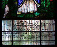 This window transferred from the chapel at Prested Hall, Feering