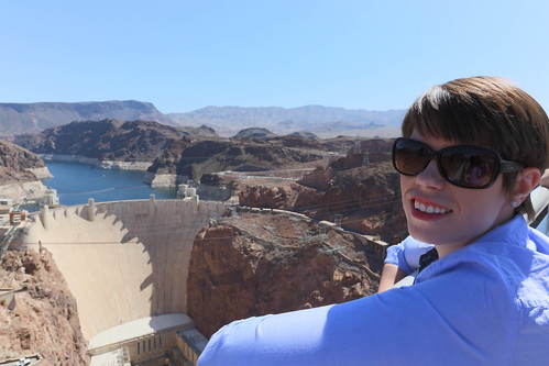 Michelle at Hoover Dam
