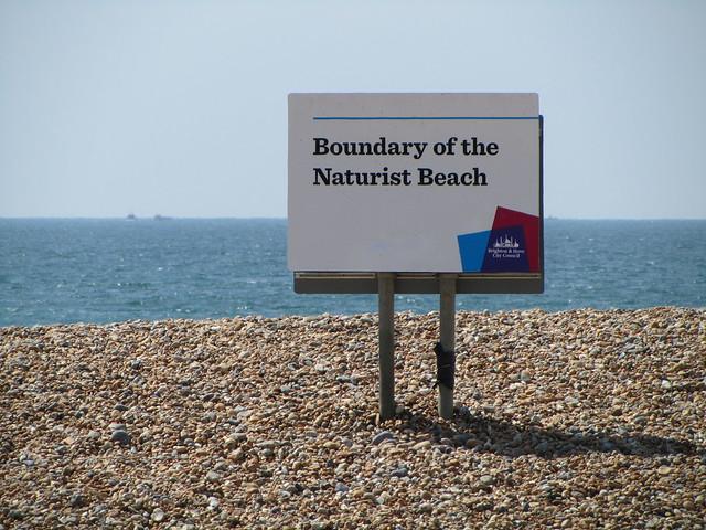 UK - East Sussex - Brighton - Passing Brighton Naturist Beach