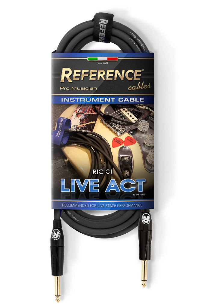 Reference 174 Ric01 Black Instrument Cable Live Act Series