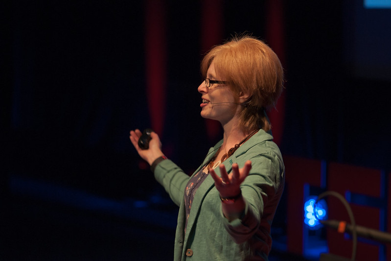 Carrie Clarke speaking at TEDxExeter 2013