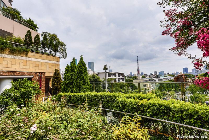 Vistas de la torre de Tokio desde Roppongi Hills
