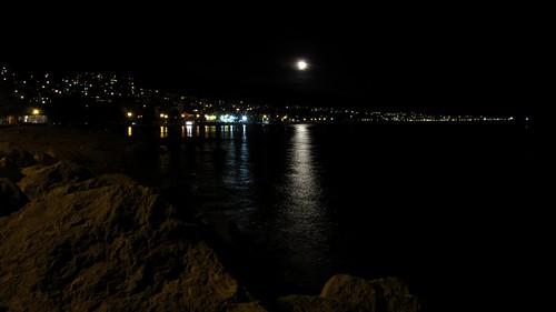 water sea outdoor view croatia night crikvenica coast seaside