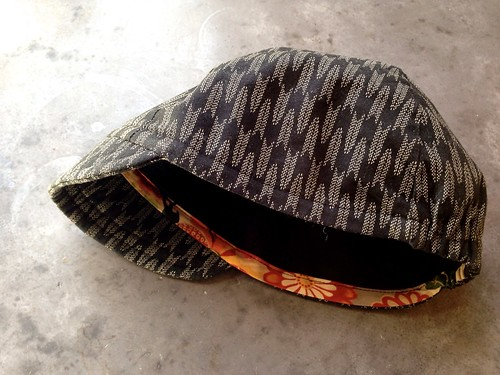 Bike hat made of traditional japanese patterned fabric | by djaiko