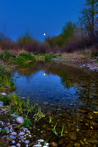 moon reflection water vertical canon river landscape evening twilight dusk stones sigma pebbles idaho boise moonrise 7d hdr boiseriver photomatix 1750mm