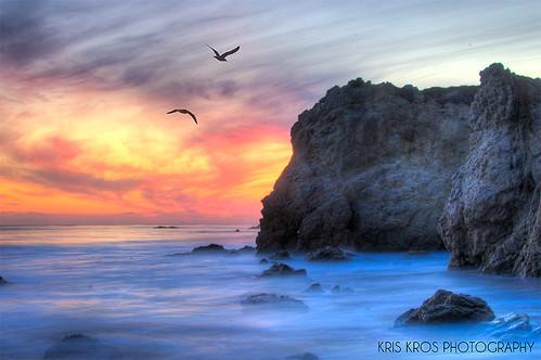 california county ca sunset sky seagulls seascape bird beach clouds landscape coast la los nikon highway rocks long exposure waves state pacific angeles el malibu boulders pch kris hdr kkg matador d300 photomatix kros kriskros kkgallery