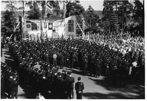 Sarpsborg juli 1942. Quisling taler. 1942/07