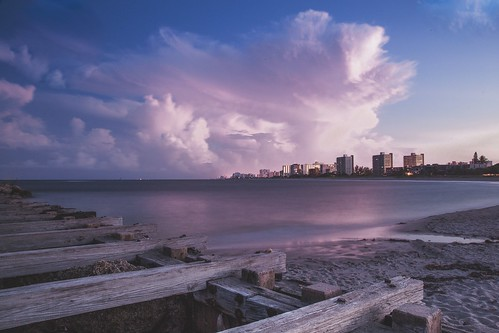 pompano beach florida south anthony papa canon canon5dmkii long exposure dock water blue wood lighthouse moon america digital vintage matte landscape sea ocean atlantic outdoor coast shore seaside cloud sky pink purple sunset 24105mm clouds rural nature photography digitalrev white art travel tumblr composition