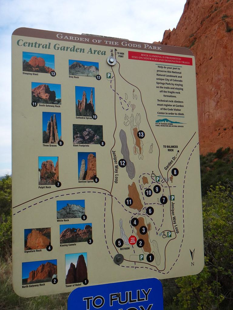 Garden Of Gods Trail Map Colorado Springs Co Quiggyt4