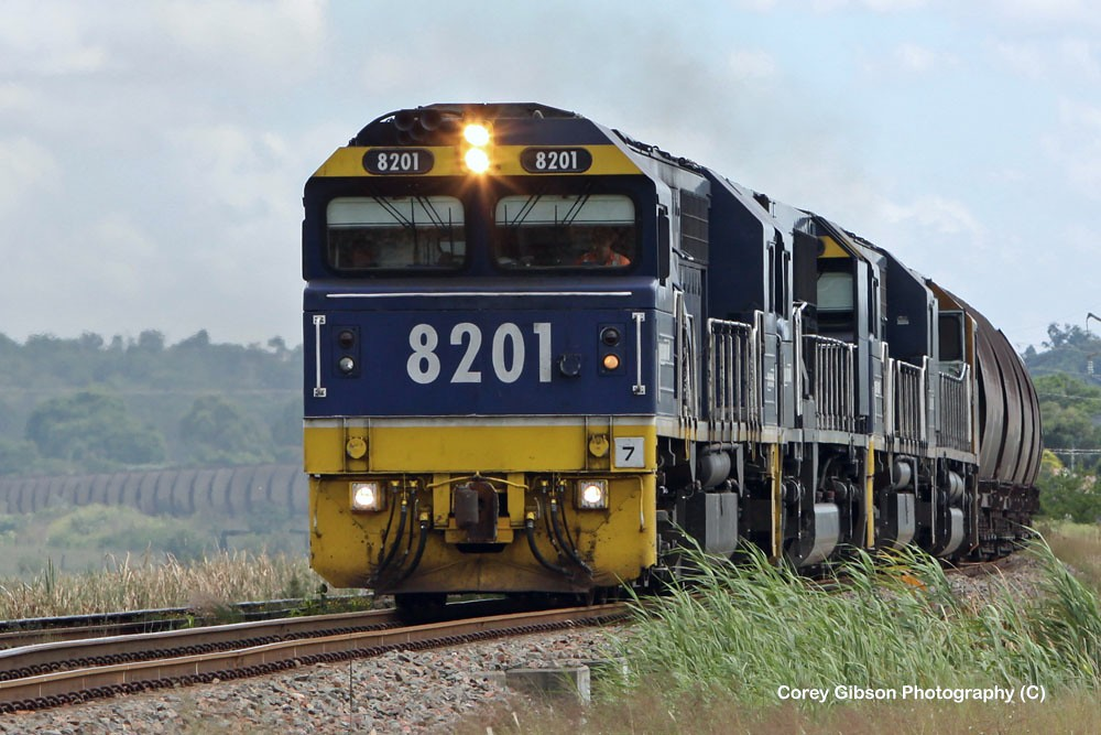 8201 load of coal departing Singleton for Newcastle by Corey Gibson