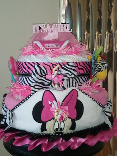 Minnie Mouse 2 Tier Diaper Cake