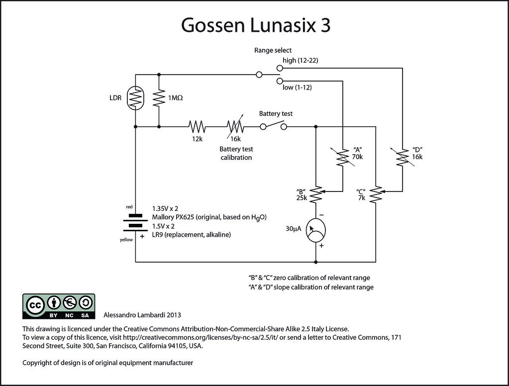 Swell Print Gossen Lunasix 3 Light Meter Schematic 5Volt Flickr Wiring Cloud Staixuggs Outletorg