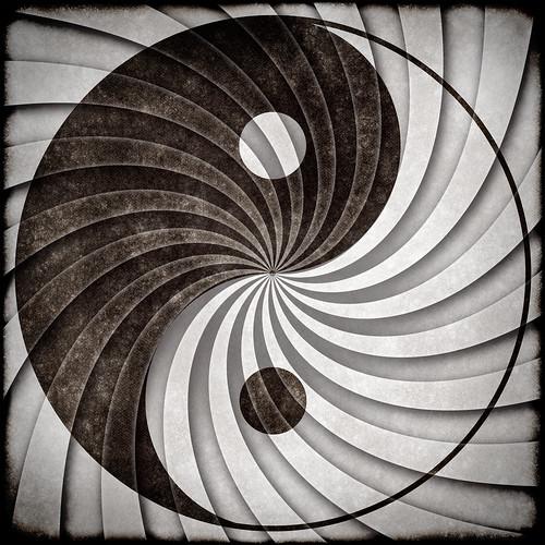 Yin Yang Grunge Symbol | by Free Grunge Textures - www.freestock.ca