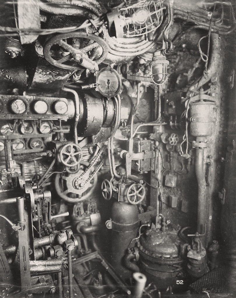 U-Boat 110, Diesel Engine Room  | This photograph shows the