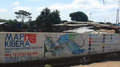 The Map Kibera's on the wall