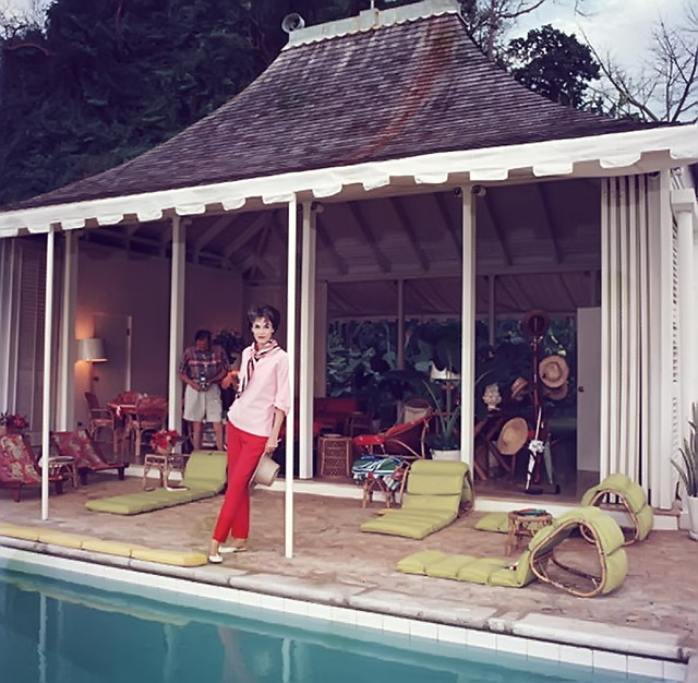 Babe Paley at her Round Hill Villa in Jamaica in 1959 - Taken by Slim Aarons