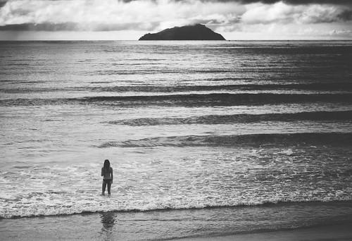 ocean sea white black beach girl landscape island bay waves bream ruakaka explored uretiti