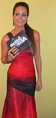Red & Black Beaded shoulder dress - Brooke Burke - DANCING WITH THE STARS behind the scenes (4)