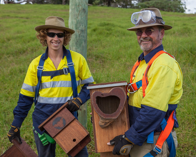 Leon and Alan With Nestboxes