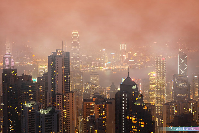 A Foggy Night in Hong Kong *A Popular Landmark*