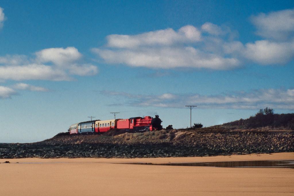 Don River Railway along the beach by Alan Shaw